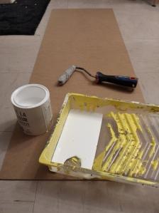Peinture fond du meuble