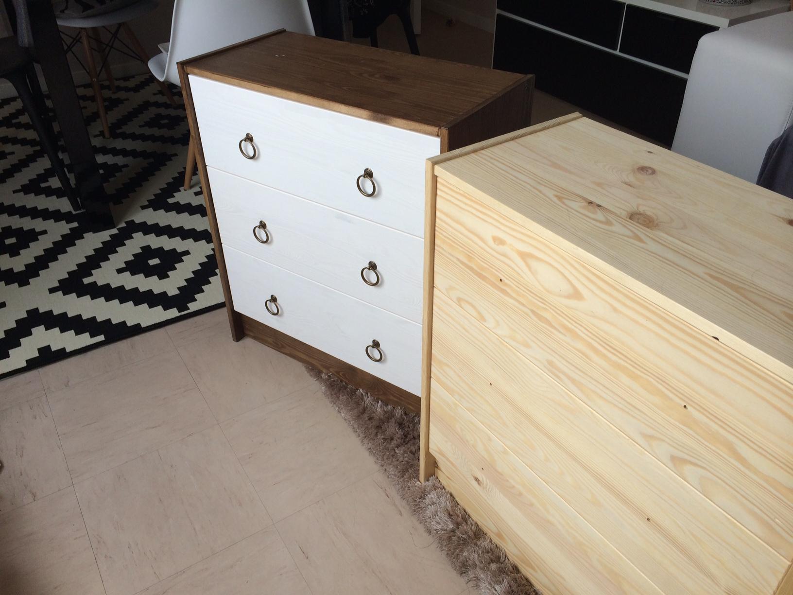 Une Commode Ikea Qui Prend Des Couleurs Blog D Co Chez Viviane # Meuble Bois Brut Ikea